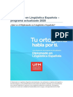 Diplomado en Lingüística Española