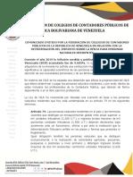 Comunicado Fccpv Exoneracion Islr d2020