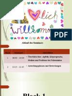 Seminar - Ein gelungener Auftritt bei der Präsentation