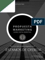 Black Minimalist Marketing Proposal