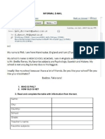 write an email verb to be