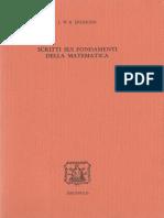 1982 Scritti Sui Fondamenti Della Matematica - J. W. R. Dedekind
