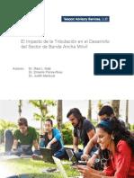 El Impacto de la Tributación en el Desarrollo del Sector de Banda Ancha Móvil*