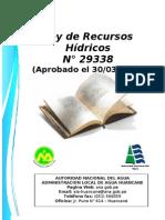 Ley de RRHH 29338 editado por la ALA Huancané Formato A 5