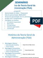 SEMINÁRIO - TGA - 2017.1