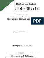 Herder, Johann - Fruechte Aus Den Sogenannt Goldenen Zeiten (1850)