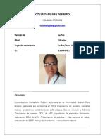 CV-Lic. Otilia Tangara Febrero
