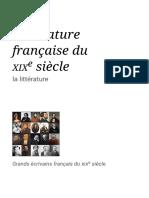 Littérature Française Du XIXe Siècle — Wikipédia (1)
