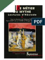 Le Metier Du Mythe-Lectures d'Hésiode