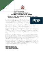 Nota de Prensa Caso Luciana Leon