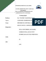 INFORME DE AUDITORIA CAPITULO I  II  14-08