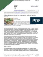 Superuser-Privilege-Managemen