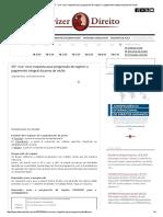 """Dizer o Direito_ STF """"cria"""" novo requisito para progressão de regime_ o pagamento integral da pena de multa"""