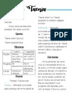 Resumo parasitologia - Taenia