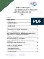 MANUAL CONVOCATORIA COMPARTE LO QUE SOMOS - CULTURA EN MOVIMIENTO REACTIVEMOS LO QUE NOS UNE 2021 (1)