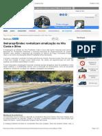 Setransp:Emdec revitalizam sinalização na Vila Costa e Silva