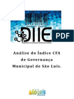 ANÁLISE DO ÍNDICE CFA DE GOVERNANÇA MUNICIPAL DE SÃO LUÍS