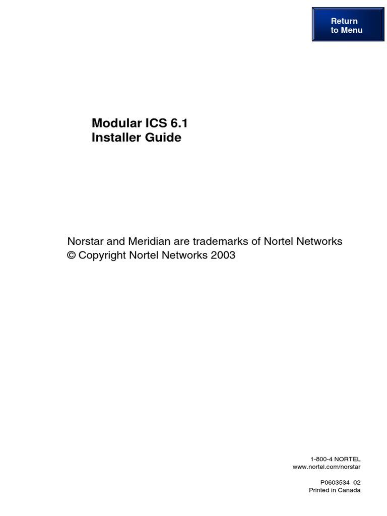 Nortel ICS VM System | Telecommunications | Federal