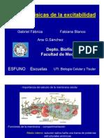 Bases Biofisicas -  Excitabilidad
