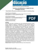 Obra-aula- processos, procedimentos e criação de uma artistagem docente [Educação UFSM]
