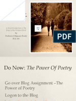 Power Point Poetry Lesson Plan 102