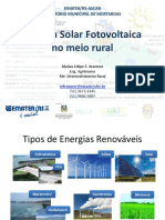 Energia Fotovoltaica no meio rural