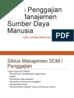Siklus Penggajian dan Manajemen Sumber Daya Manusia
