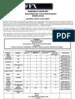 Diamond fx safety sheet