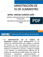 UNIDAD 3.- ADMINISTRACIÓN DE CADENAS DE SUMINISTRO ENERO 2021