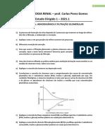 Estudo Dirigido  - Fisiologia Renal