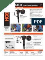 Spec Sheet - DP-3545-20 Spool Gun