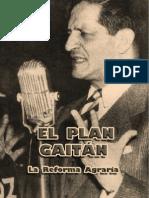 [Jorge Eliécer Gaitán] El Plan Gaitán