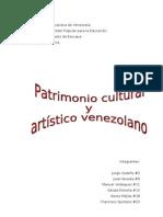 patrimonio cultural y artistico de venezuela
