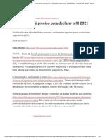 Confira o que é preciso para declarar o IR 2021 em meia hora - 29_05_2021 - Imposto de Renda - Agora