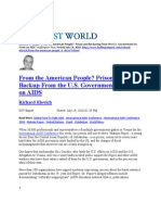 From the American People? Prison and No Backup From the U.S. Government for Work on AIDS
