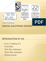 Digital Electronic Devices Logic Families