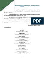 Minuta. NOTA PÚBLICA DOS GOVERNADORES EM SOLIDARIEDADE AO SUPREMO TRIBUNAL FEDERAL. V1