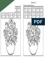 Inmultirea cu 1(colorăm dupa indicatii)