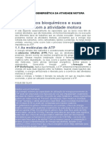 BIOQUÍMICA E BIOENERGÉTICA DA ATIVIDADE MOTORA Unidade 4