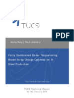 Fuzzy Constrained Linear Programming Based Scrap Charge Optimization in Steel Production
