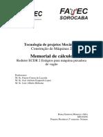 Memorial de Cálculo-Redutor