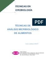 Técnicas en Microbiología  - Alimentos 2016-17