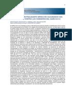 Actividad neutralizante de los sueros de vacunados con Sputnik V contra las variantes del SARS