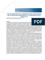 Caracterización de la respuesta de anticuerpos en la infección asintomática y sintomática por SARS