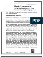 EQ Management Role of Site Engineers