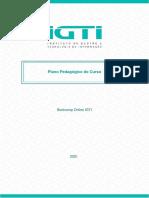 Bootcamp Online IGTI – Plano Pedagógico Do Curso