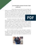 Sistema nacional de protección integral y garantías de derechos de niñez y adolescencia
