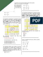 D8 (3ª série) equação de uma reta