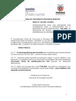 Edital n° 104-2021 – COGEPS – Homologação Final das Inscrições
