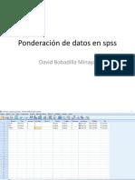 Ponderación de datos en spss